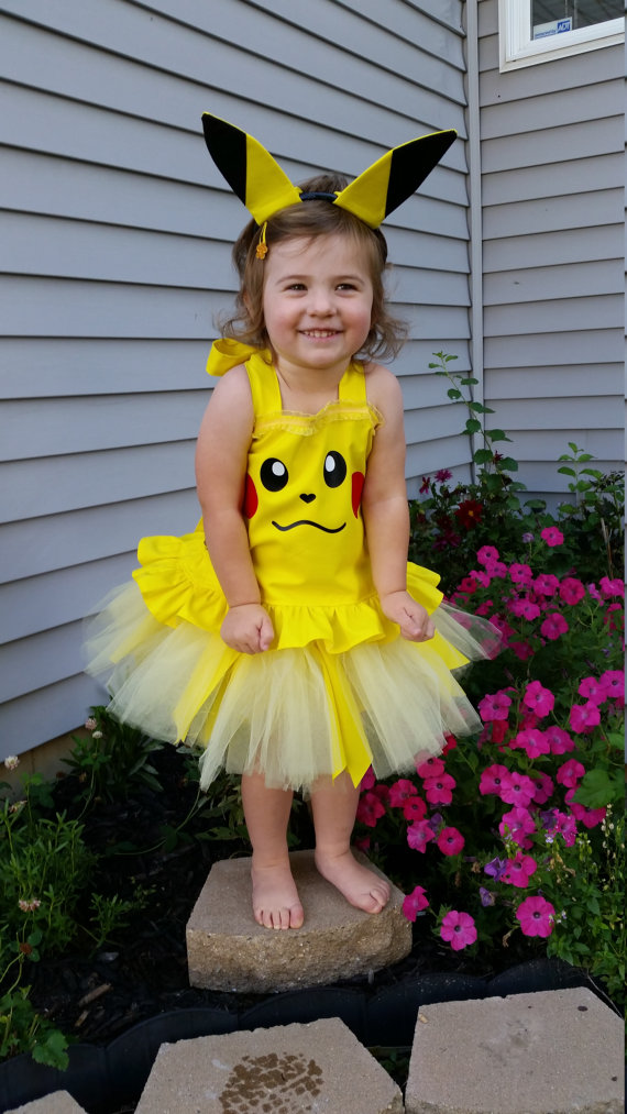 Boutique Handmade Pikachu Inspired Costume by TulipsLoveTurtles  sc 1 st  Pinterest & Pikachu Inspired Costume Pikachu Birthday Outfit Pikachu Halloween ...