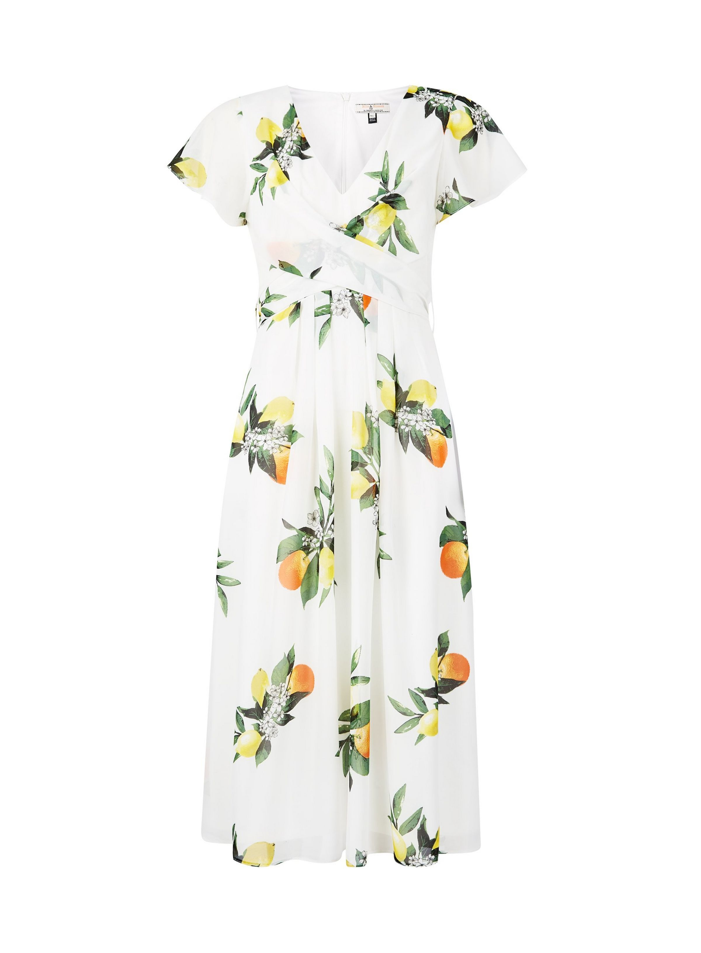 Billie Blossom Tall White Lemon Print Wrap Midi Dress Dorothy Perkins Tall Women Dresses Clothes Wrap Midi Dress [ 3264 x 2400 Pixel ]