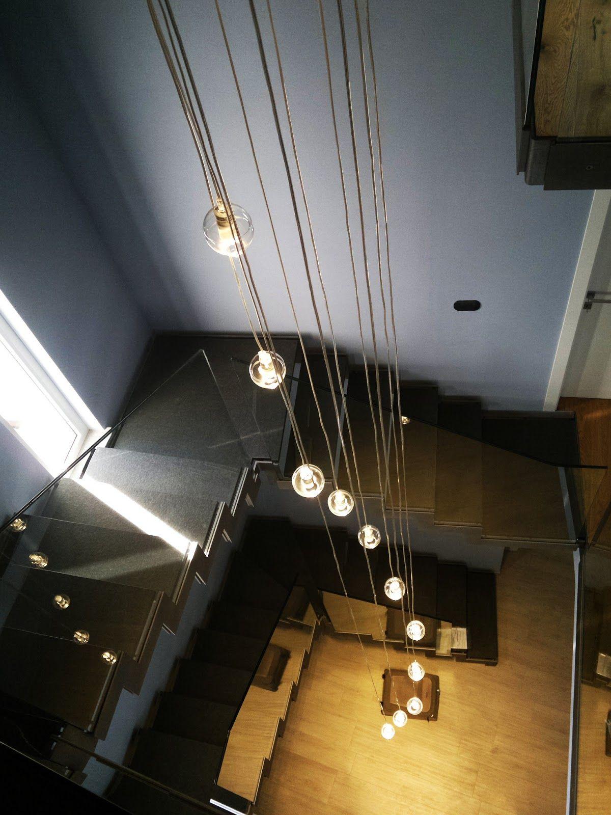 Lampade Sospese A Led.Risultati Immagini Per Illuminazione Scale Con Lampade