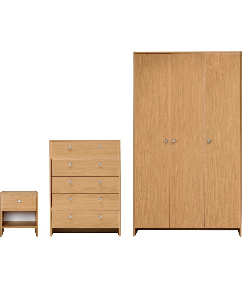Buy Seville 3 Piece Door Wardrobe Package