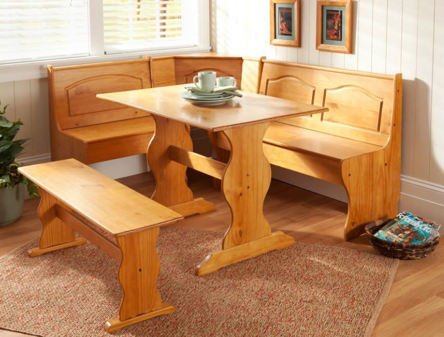 New Kitchen Nook Corner Dining Breakfast Set Table Bench Chair Booth Breakfast Nook Table Nook Dining Set Corner Kitchen Tables