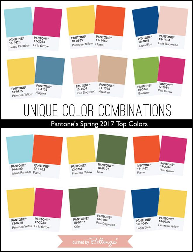 Color Combinations unique wedding color combinations using pantone's spring 2017 top