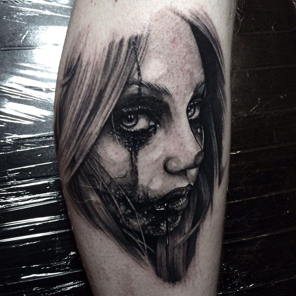 Evil Clown Girl Tattoo Photography Art  Tattoos -6420