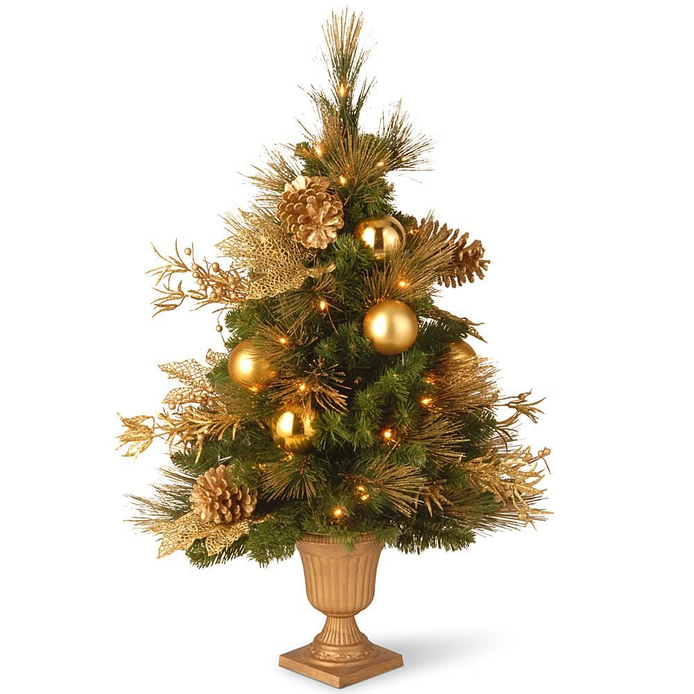 3' Decorative Collection Elegance Tree in with Clear