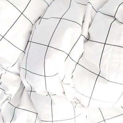Grid bed sheets ☆ | White aesthetic, Black and white ...