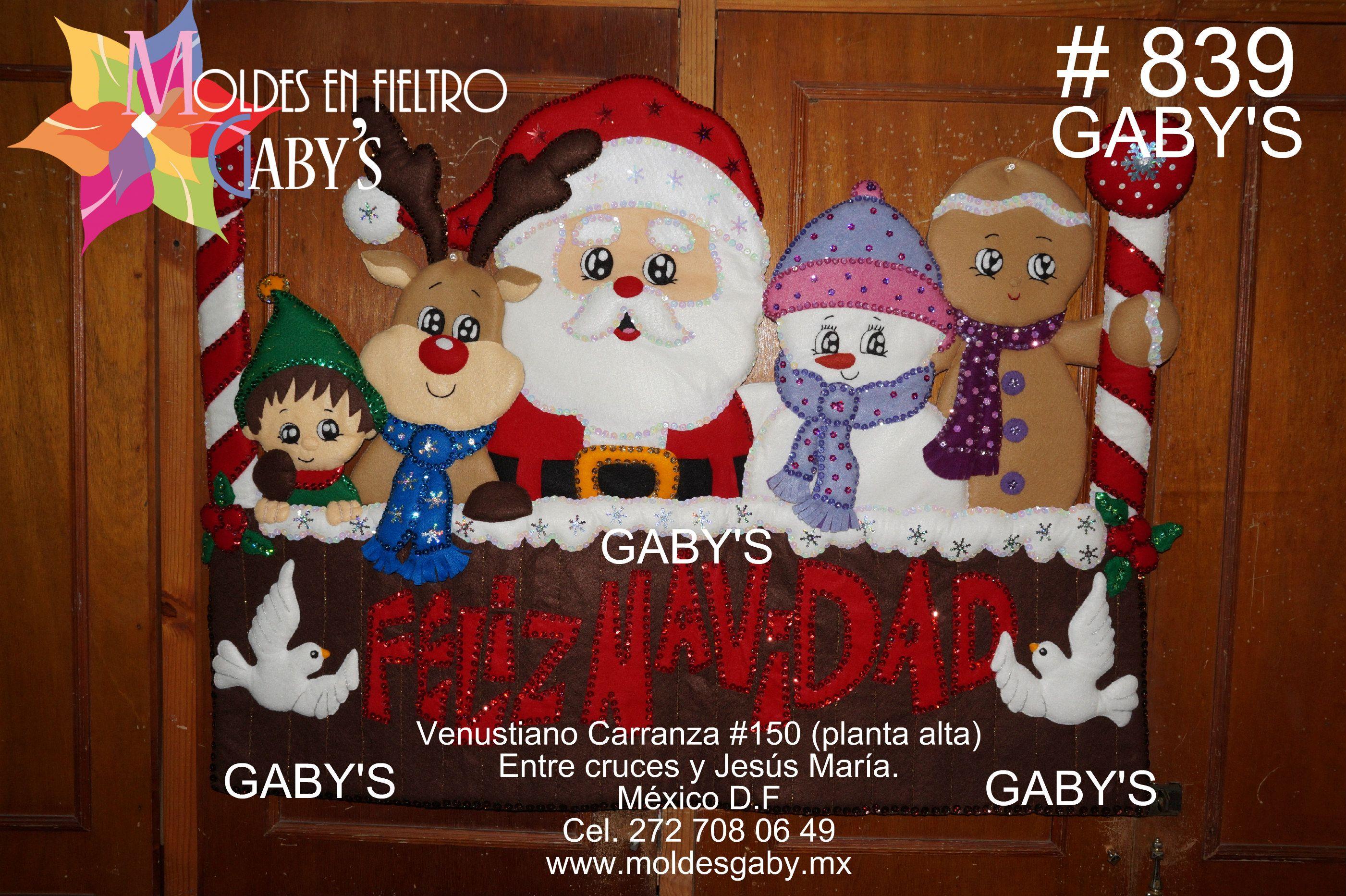 839 Letrero Feliz Navidad Santa Y Todos Fieltro Manualidades Navidad Fieltro Navidad Moldes Para Navidad