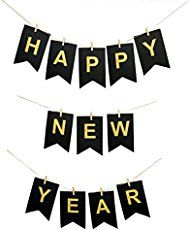 Free Printable Happy New Year Banner. 2018 Banner flags as ...