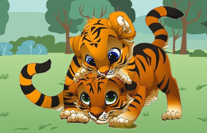 Short Story The Two Tiger Cubs Laura And Sungha By Aditya Munindranath Sakaray Parangi India Is One Cartoon Clip Art Cartoon Tiger Cute Cartoon Animals
