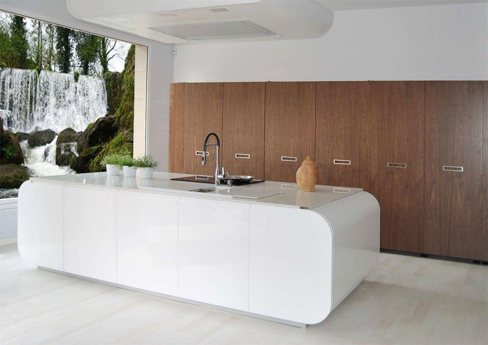 Dise o de cocina realizado por estudio de cocinas iroko de - Muebles de cocina pontevedra ...