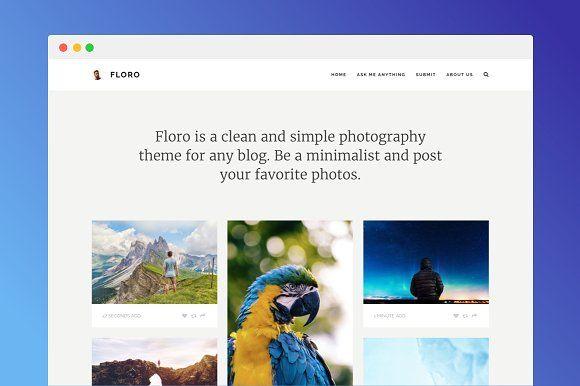 Floro Tumblr Photo Theme | Creative Designs - Typography Design ...