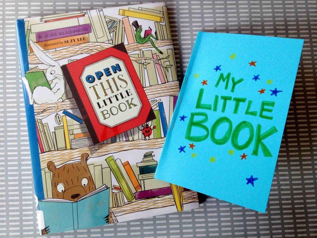 Little Book Craft Inspired By The Picture Book Open This Little Book By Jesse Klausmeier