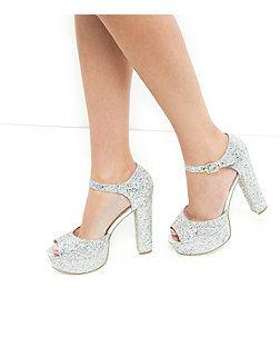 glitter block heels closed toe online