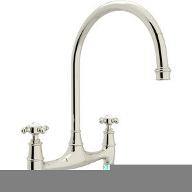 Rohl U.4790XAPC-2 Perrin & Rowe Polished Chrome  Two Handle Bridge Kitchen Faucets  | eFaucets.com