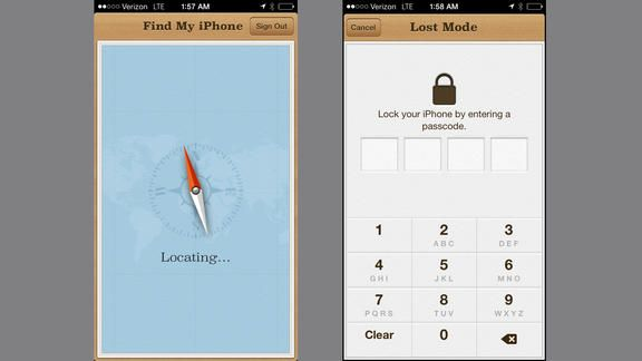 60. Lock and key code Apple's Find My iPhone app has