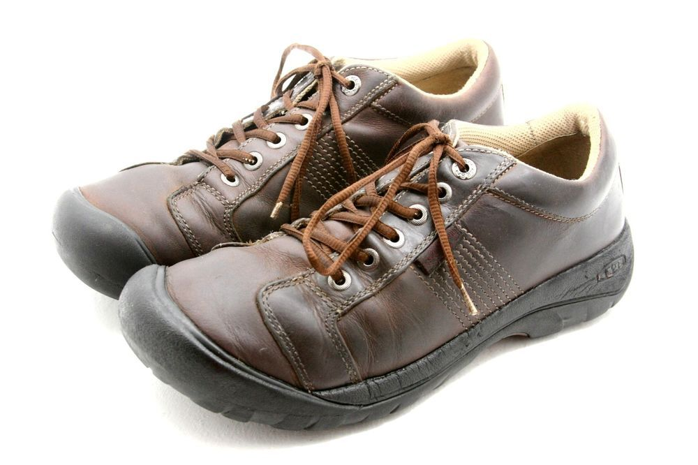 KEEN mens shoes size 10.5 AUSTIN brown leather oxfords casual sneakers