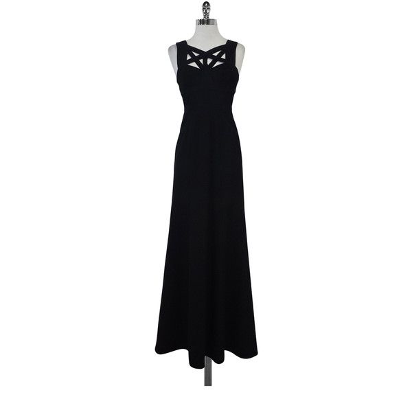 Pre-owned BCBG Black Caged Valerie Gown ($119) ❤ liked on Polyvore ...