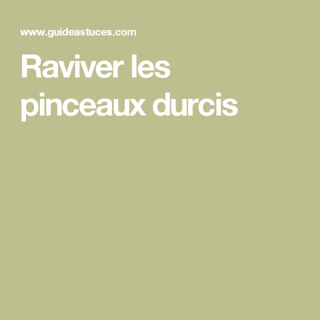 Raviver Les Pinceaux Durcis Pinceau Pinceau Sec Et Nettoyer Pinceau