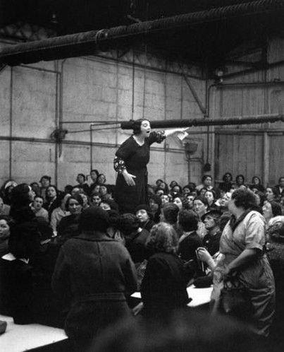 Grève chez Citroën - Rose Zehner - 1938 - Willy Ronis