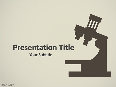 Free Research Powerpoint Template Medical Template Pinterest