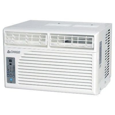 Chigo - 8000 Btu Window Air Conditioner Electronic Controls, White - Air Conditionne Maison Prix