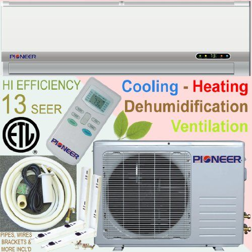 Pioneer Ductless Mini Split Air Conditioner Heat Pump 12000 Btu