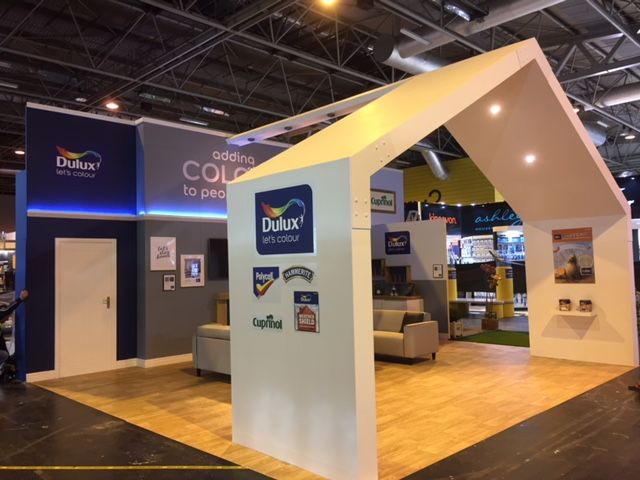 Exhibition Stand Builders Dublin : Dulux cuprinol stand at spring fair built by silverwood