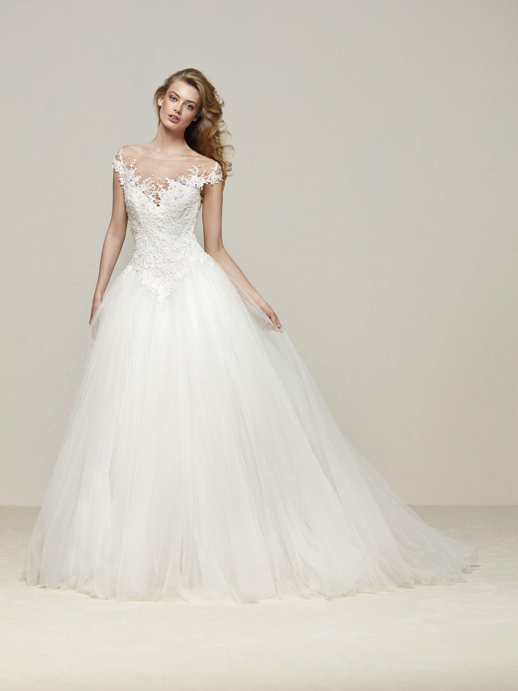 Sheer top wedding dress  Brautkleid Prinzessin Drosel  Wedding  Pinterest  Princess