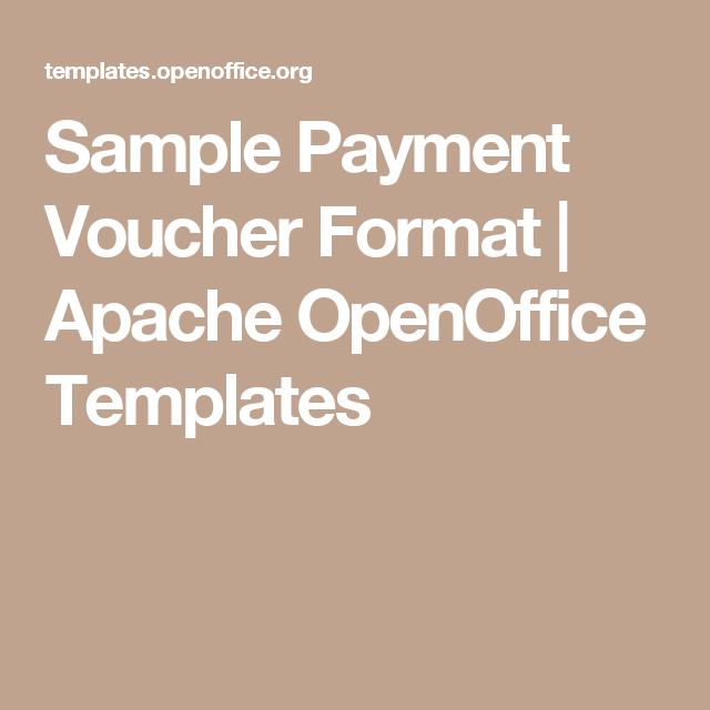Sample Payment Voucher Format  Apache Openoffice Templates  Tax