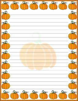 halloween border lined paper free printable