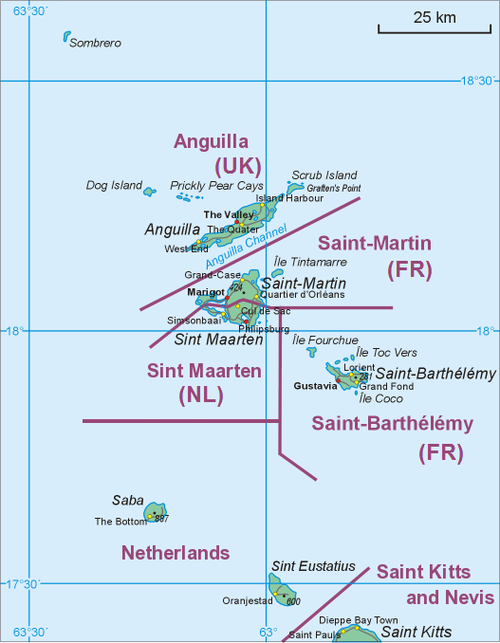 Map Showing Location Of Saba Relative To Sint Eustatius