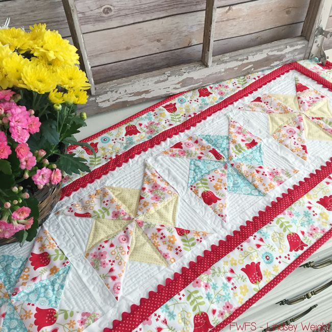 Happy Day Table Runner {Free Pattern}