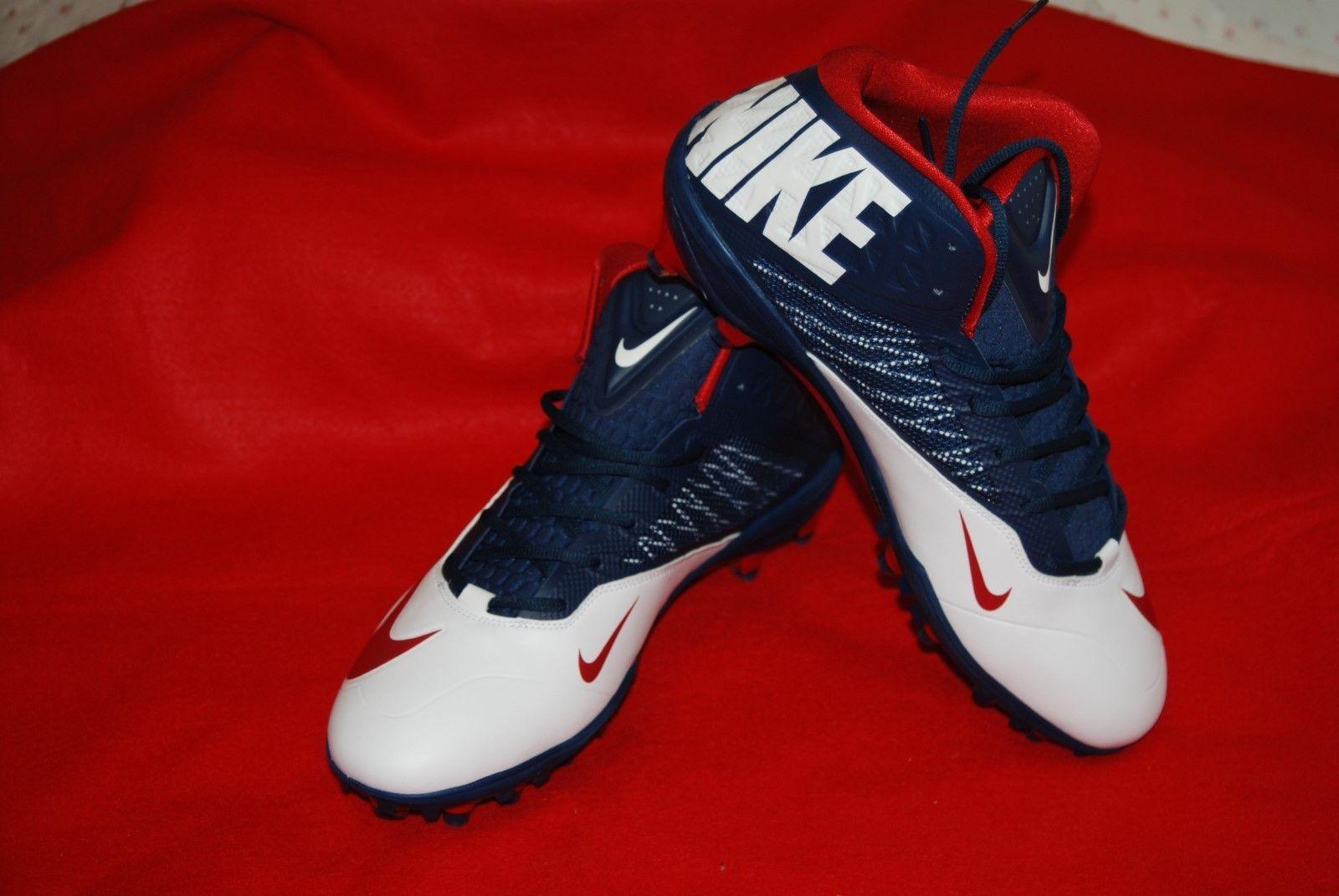 94e830168c6 Nike Zoom Code Elite TD Football Cleat 620499-413 Red White Blue Size 16  NWOB