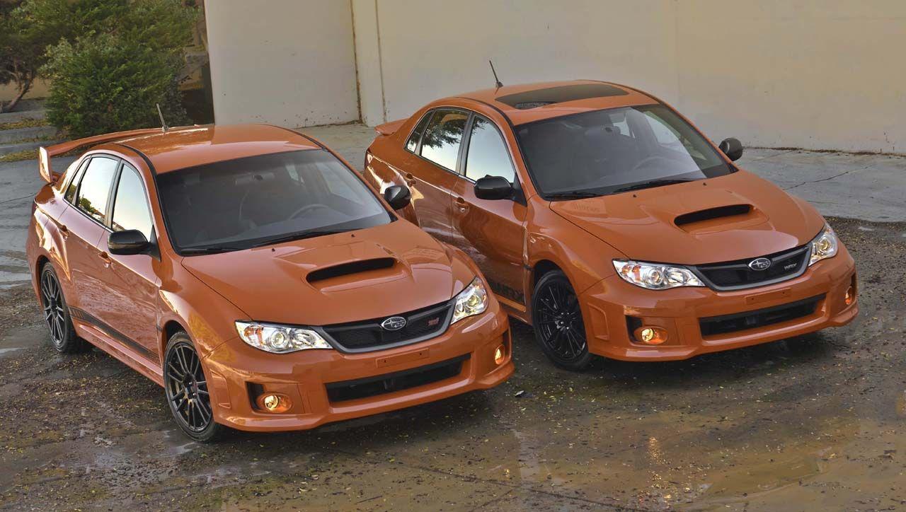 A Special Pair Wrx And Sti Limited Editions Subaru Impreza Subaru Wrx