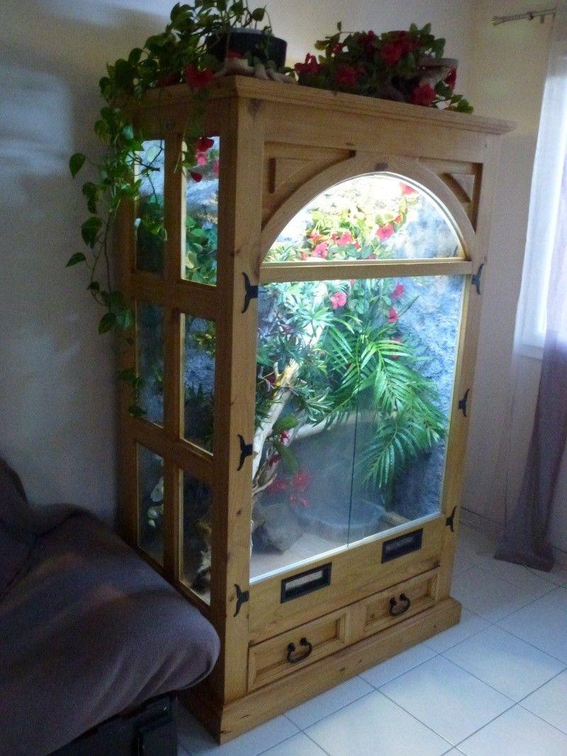Pin by rich evans on armoire terrarium ideas mobilier de salon meuble - Terrarium meuble ...