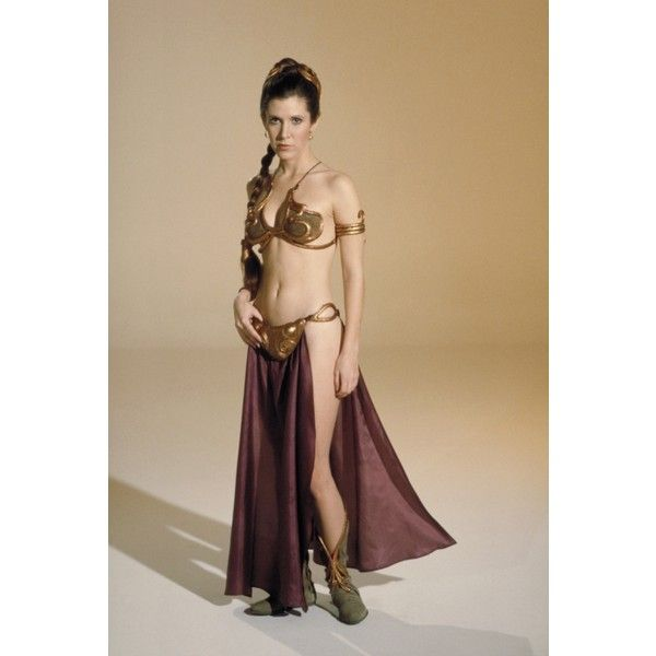 "Princess Leia /""Slave Outfit/"" Star Wars Movie Silk Poster 10/""x18/"" Carrie Fisher"