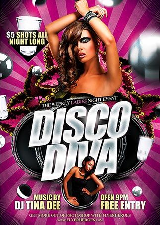 Disco Diva Free Psd Flyer Template  Download Free Psd HttpWww