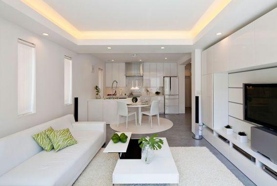 14 Relajantes Salas Minimalistas en Color Blanco DEPTO SPGG