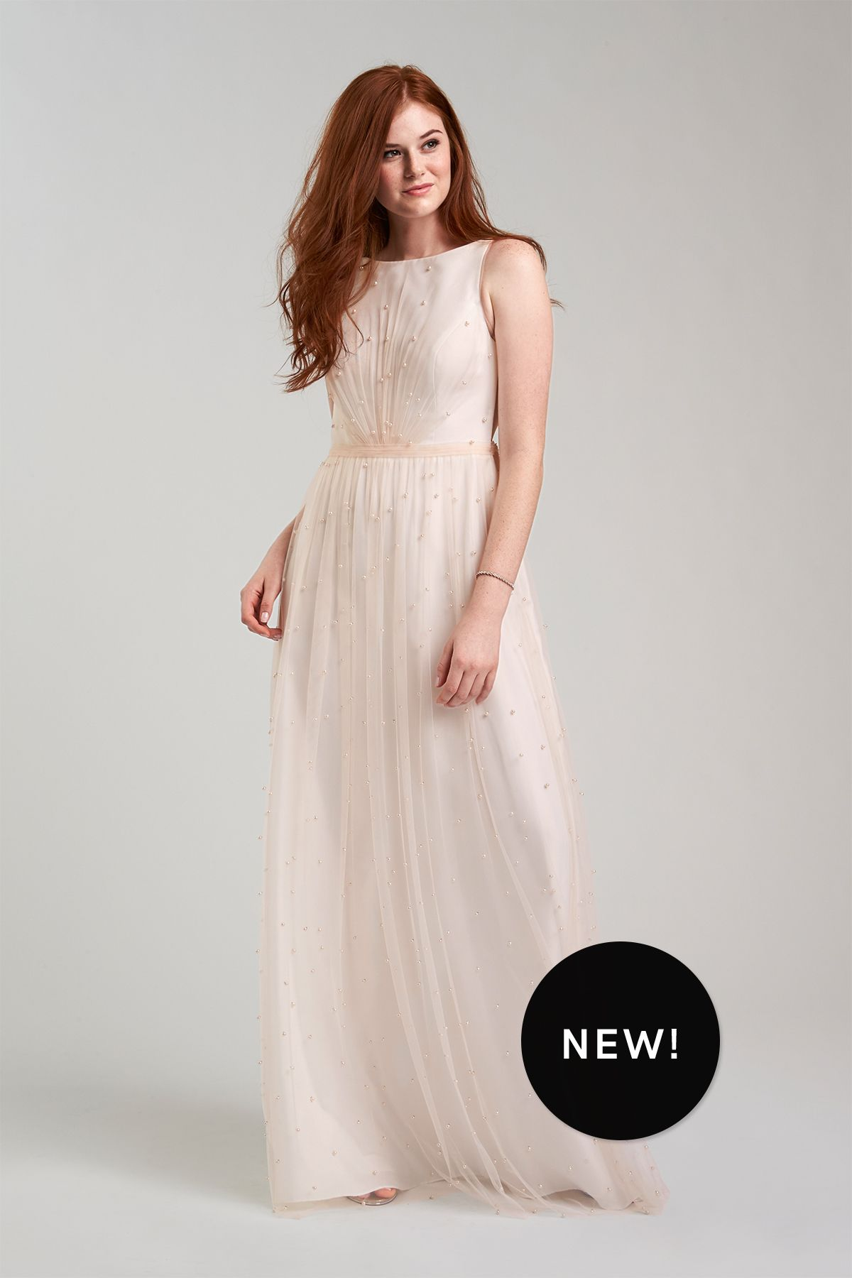 Champagne and ivory wedding dress  Bryn Bridesmaid Dress in Champagne Ivory  Weddingtype Things