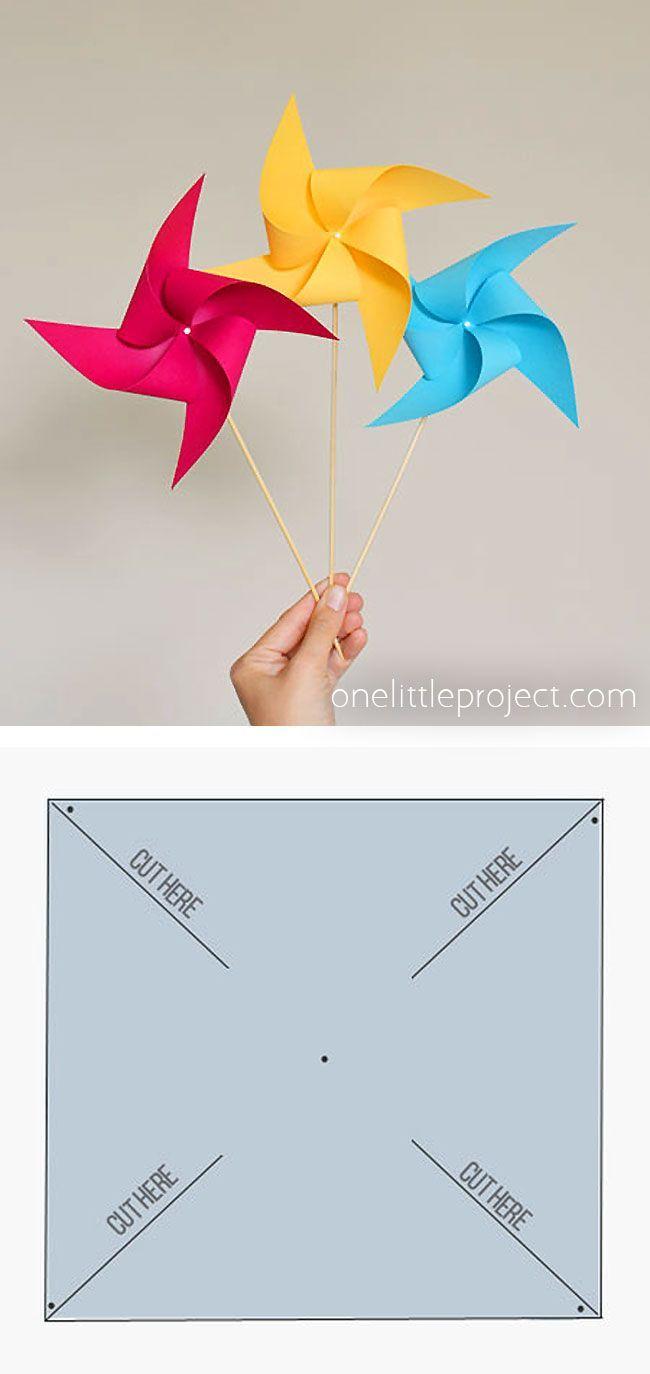 How to Make Pinwheels   Fun summer crafts, Paper crafts, Diy pinwheel