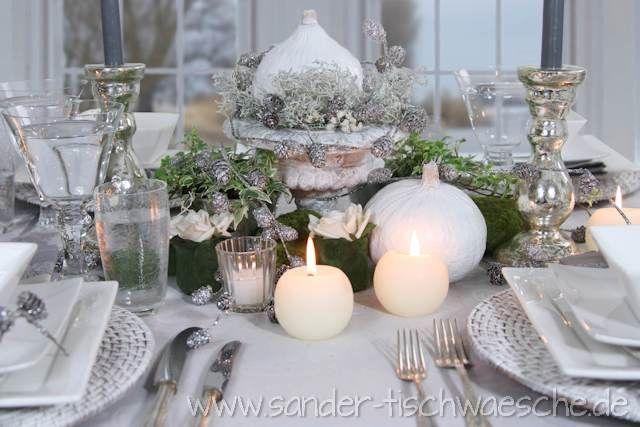 Elegante tischdekoration landh user wedding diy und crafts - Tischdekoration silberhochzeit ideen ...