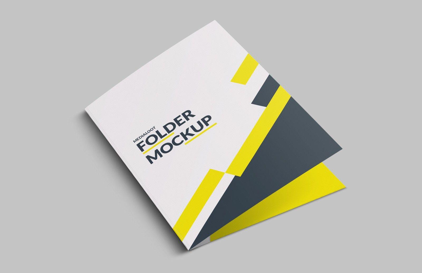 Medialoot Folder Mockup For Photoshop Folder Mockup Folder Design Presentation Folder Design