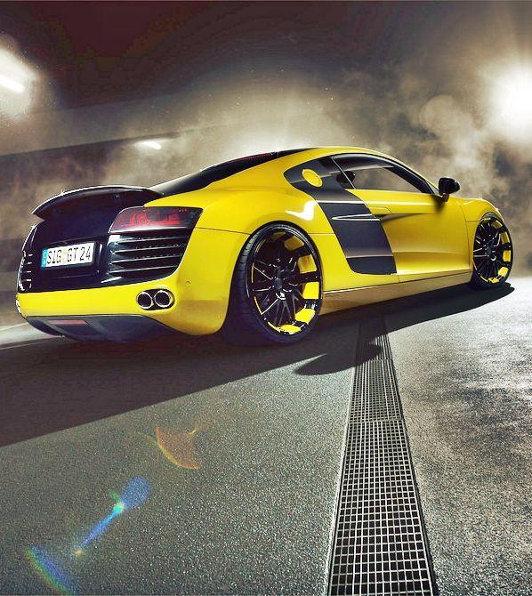 Audi #R8 #AudiR8 #yellow #black #gialla #nera #colors #super #dream