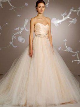 Lazaro Sherbet Organza Satin Silk Tulle 3108 Wedding Dress Size 6
