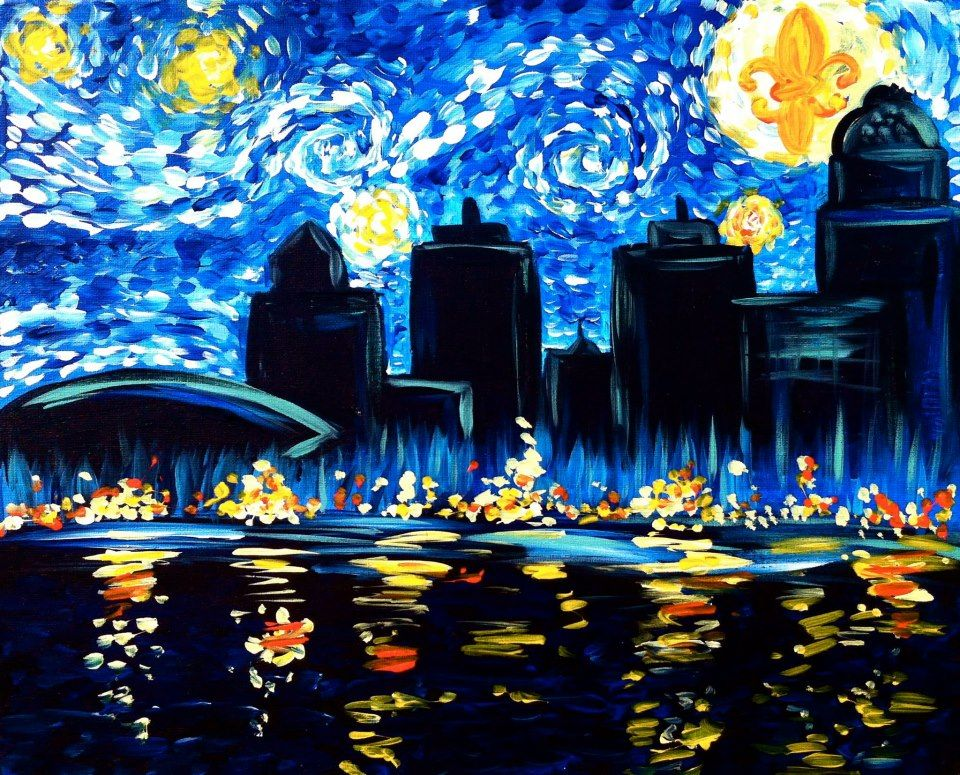 Louisville Starry Nights By Uptown Art Byob Painting