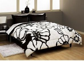 Flower bedding black white and gray floral bedding comforter set flower bedding black white and gray floral bedding comforter set bedroom pictures mightylinksfo