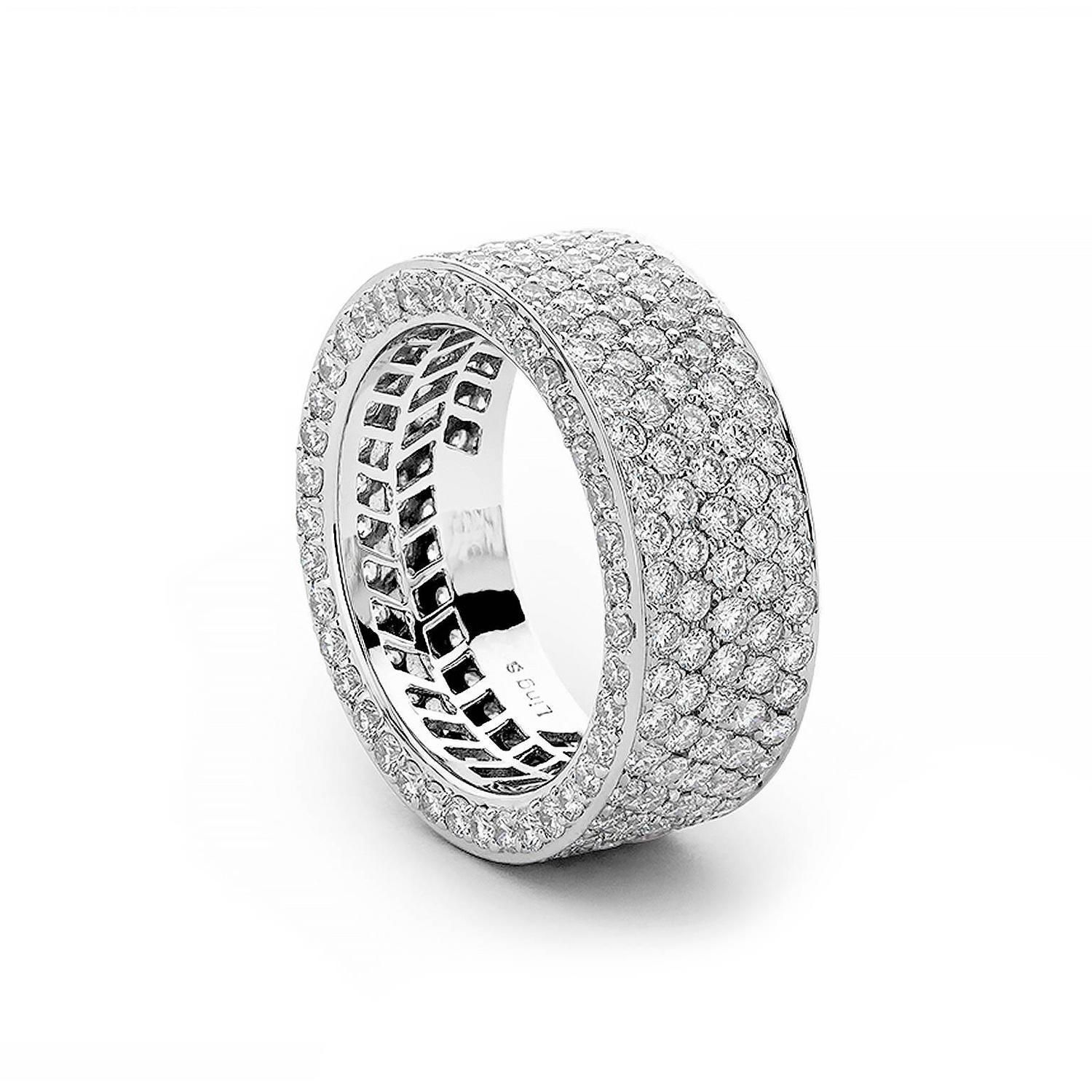 bands ring amazon cz rhodium dp micro eternity plated wide com band white jewelry diamond pave silver