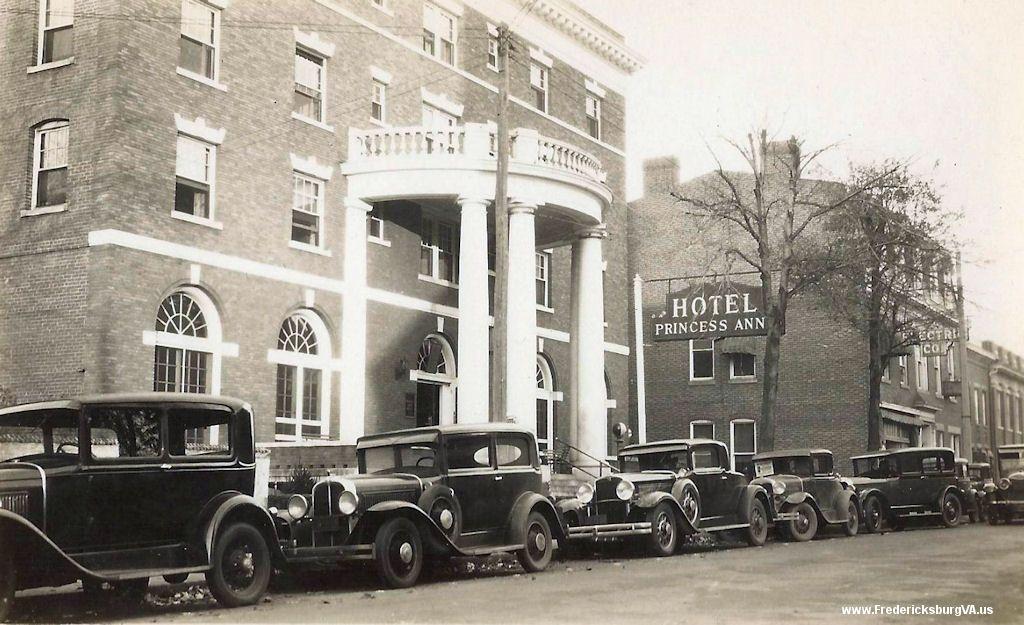Princess Anne Hotel On St Fredericksburg Va