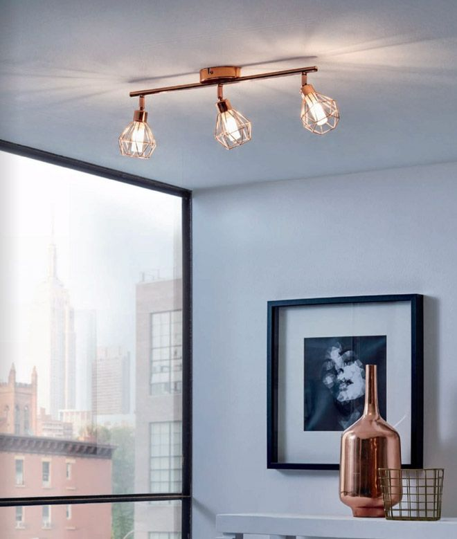 Спот осветление за таван с геометричен мотив серия Zapata In