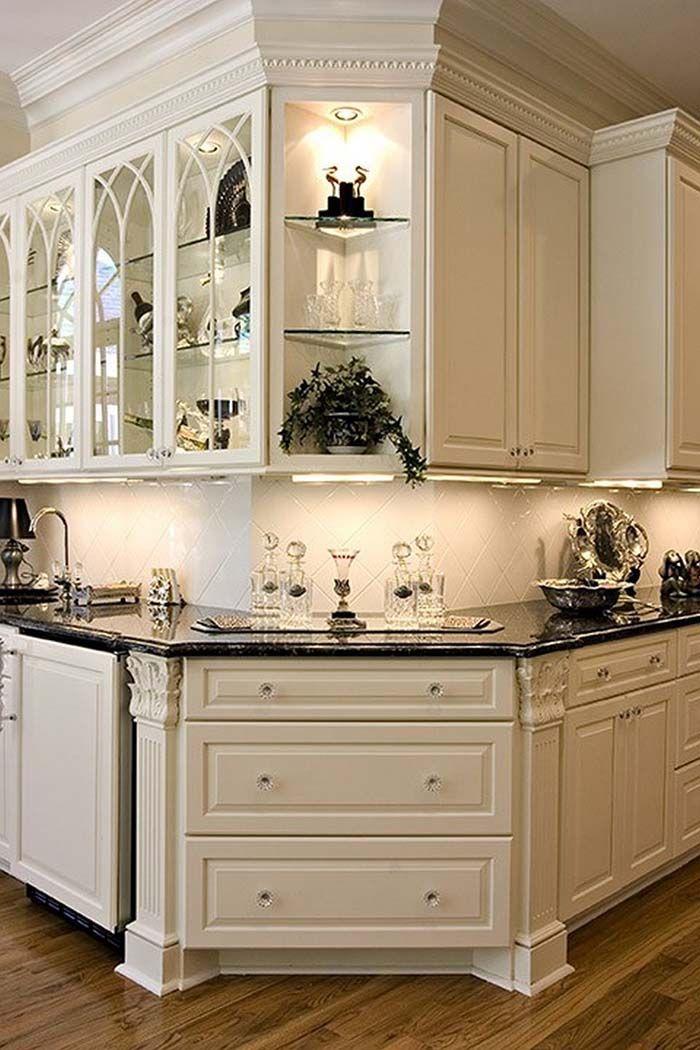 32 Best Antique White Kitchen Cabinets
