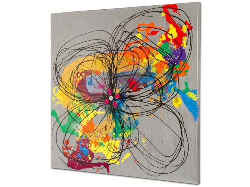 Cuadro abstracto de colores cuadros pintados al leo pinterest - Cuadros de colores ...